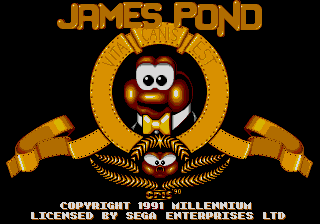 James Pond - Underwater Agent (USA, Europe) Title Screen